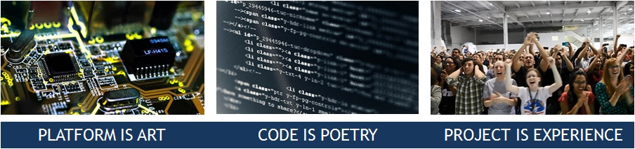 Platform is art | Code is poetry | Project is experience